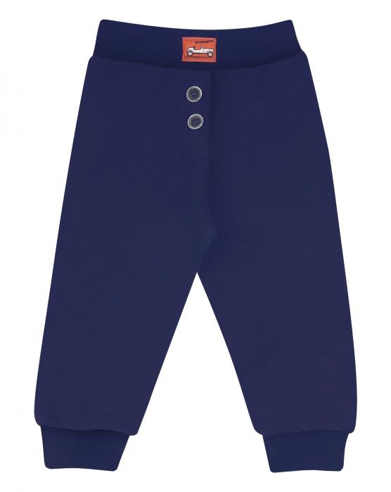 Pantalon lung, bumbac organic 100%, baieti, Bleumarin, Cars 0
