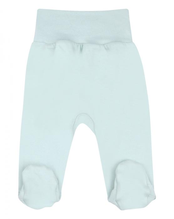 Pantalon cu talpa, bumbac organic 100%, fete, Verde deschis 0