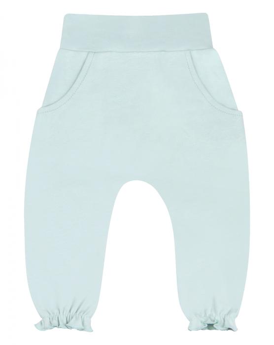 Pantalon lung cu buzunare, bumbac organic100%, fete, Verde Deschis [0]