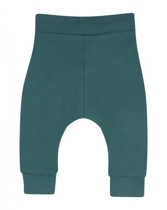 Pantalon lung, bumbac organic 100%, fete, Verde [0]