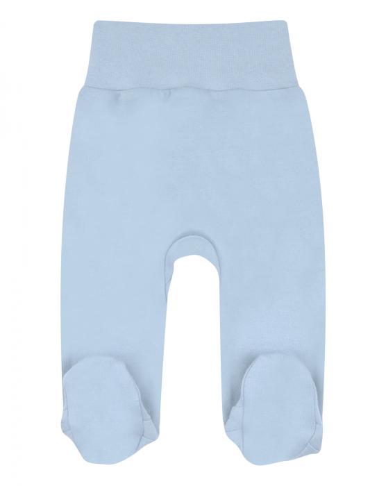 Pantalon lung cu talpa, bumbac organic 100%, baieti, Albastru 0