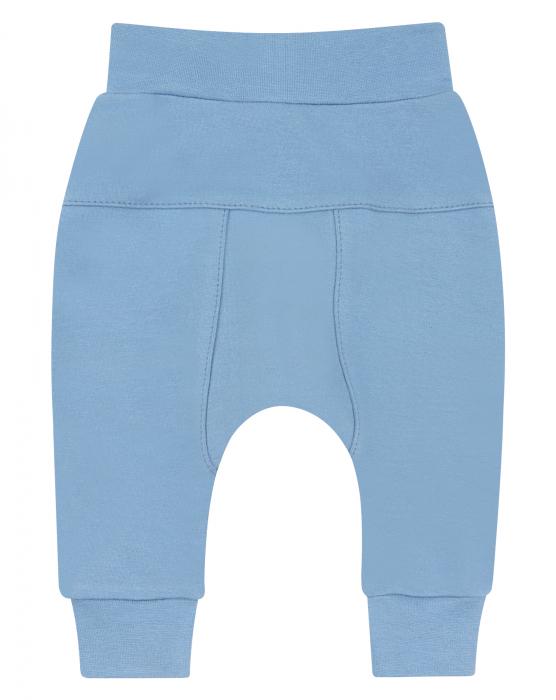 Pantalon lung, bumbac organic, baieti, Albastru [0]