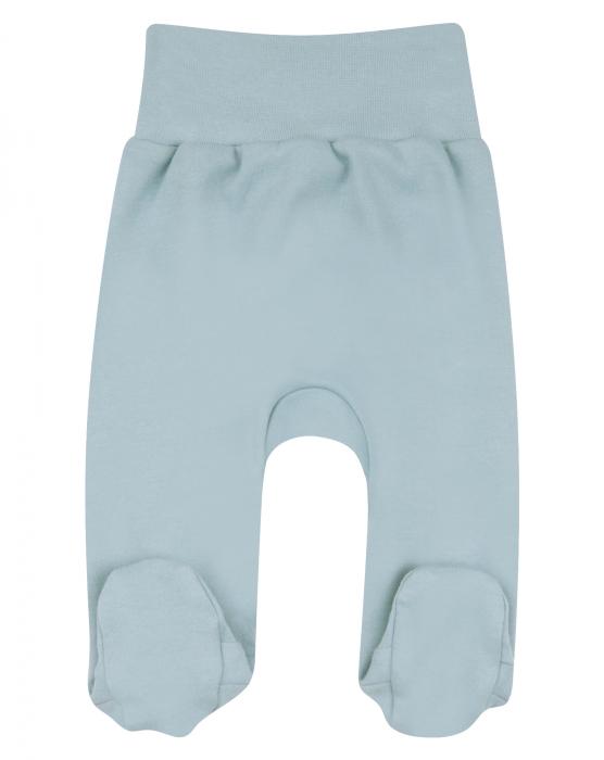 Pantalon cu talpa, bumbac organic 100%, baieti, Albastru [0]