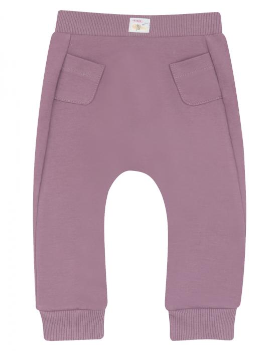 Pantalon lung, trening, bumbac organic, fete, Violet [0]