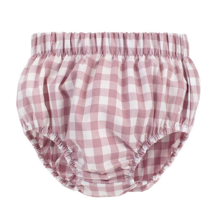 Pantalon scurt tip chilot, peste scutec, bumbac 100%, fete, Mov/Carouri, Sweet Cherry [0]