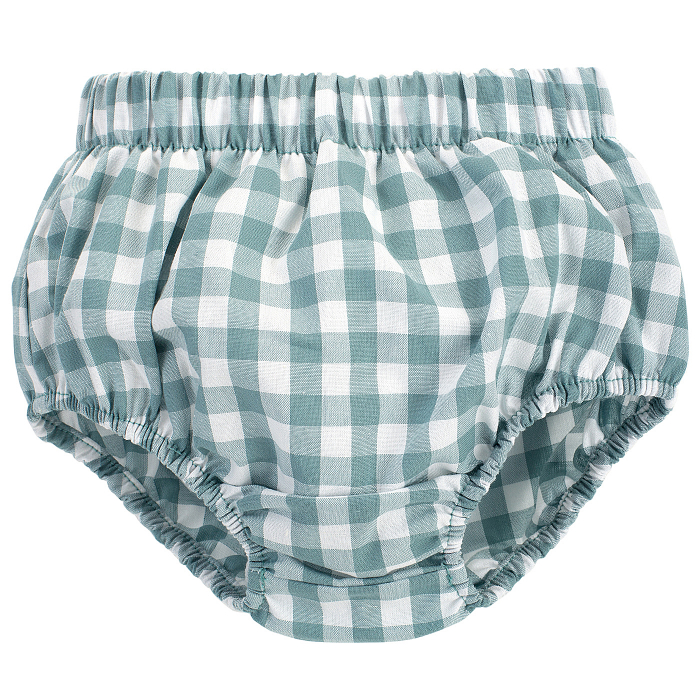 Pantalon scurt tip chilot, peste scutec, bumbac 100%, fete, Verde/Carouri, Sweet Cherry [0]