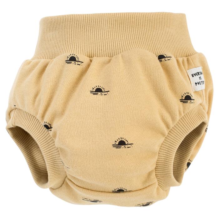 Pantalon scurt tip chilot, peste scutec, bumbac 100%, baieti, Galben mustar, Summertime [0]