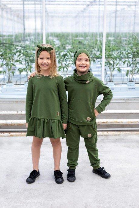 Bluza trening, baieti, Verde 0