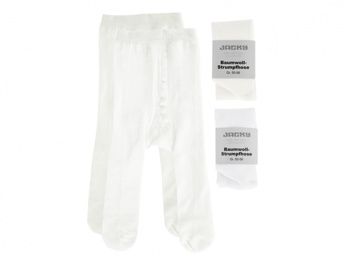 Ciorapi cu chilot, set 2 buc,alb/ crem_fete 2