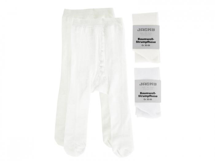 Ciorapi cu chilot, set 2 buc,alb/ crem_fete 0