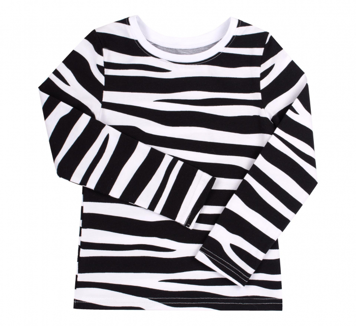 Set bluza maneca lunga+hanorac, Alb/Zebra, Safary [3]