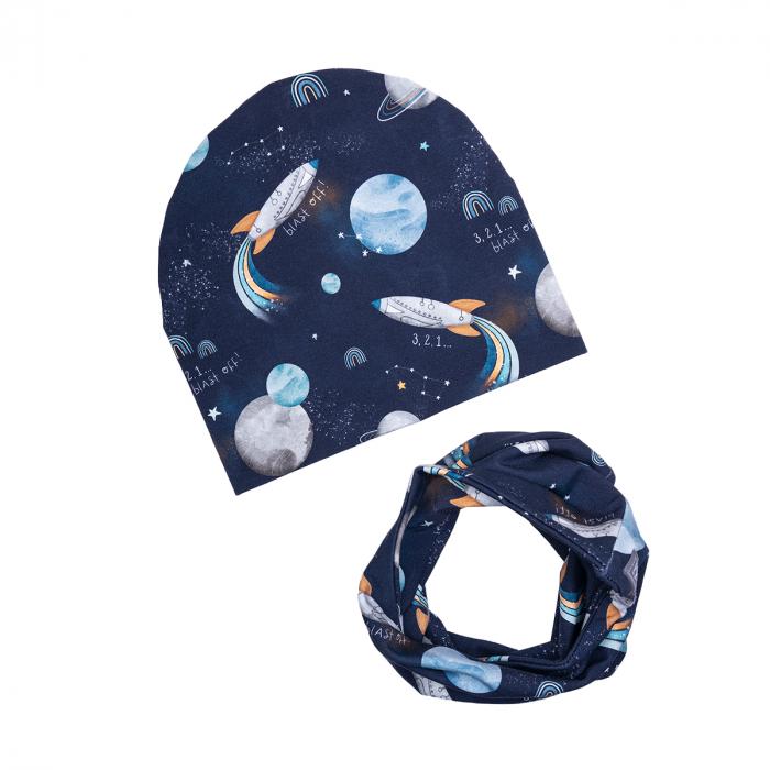 Set caciula esarfa/tub, baieti, Cosmos [0]