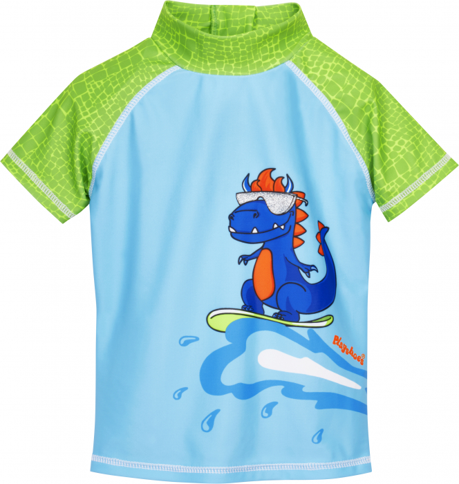 Costum baie din 2 piese, protectie UV 50+, baieti, Albastru/Verde, Dino [0]