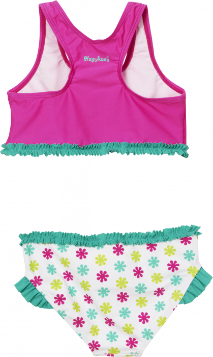 Costum baie din 2 piese, protectie UV 50+, fete, Alb/Roz/Verde, Die Mouse [1]