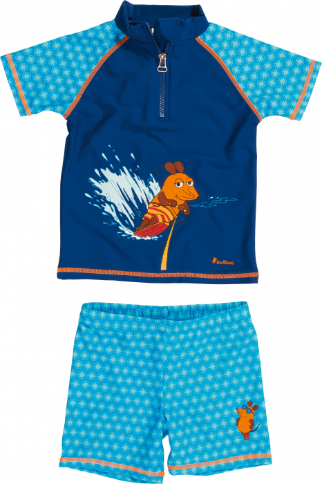 Costum de baie din două piese, protectie UV 50+_baieti_Albastru/Soricel 1