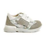 Pantofi sport din piele, fete, Ecru/Auriu, Tokyo Lime [2]