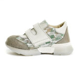 Pantofi sport din piele, fete, Ecru/Auriu, Tokyo Lime [3]