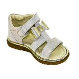 Sandale din piele, fete, Argintiu, Eva [0]