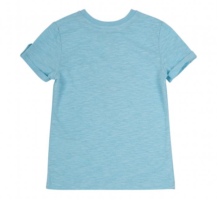 Tricou cu maneca scurta, bumbac 100%, baieti, Albastru/Vapor [1]