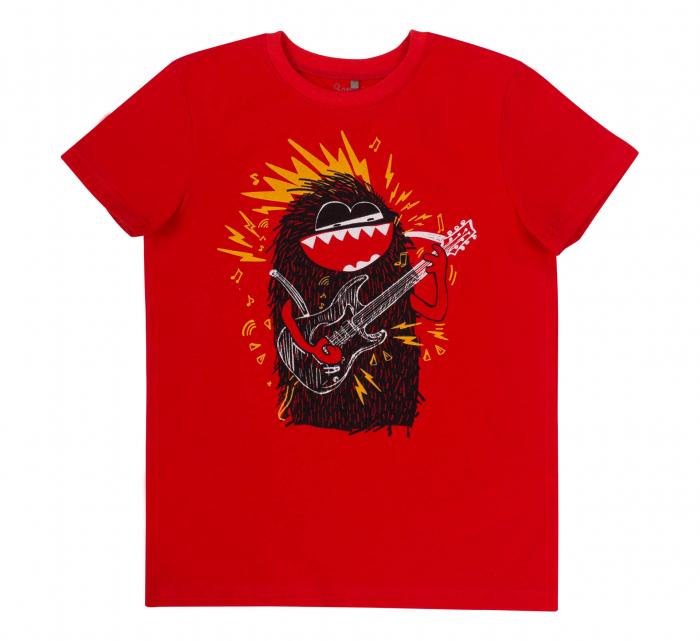 Tricou cu maneca scurta, baieti, Rosu/Monstru [0]