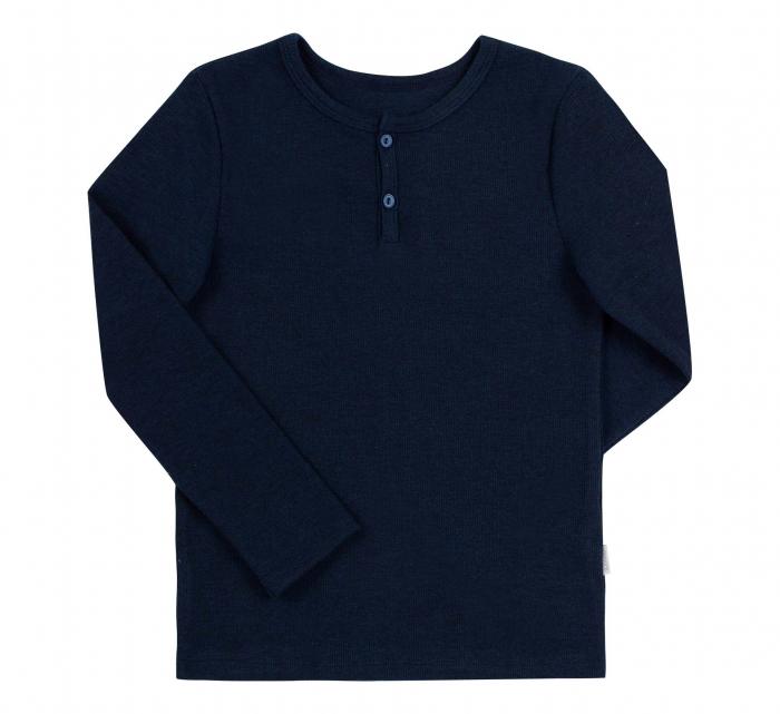 Bluza cu maneca lunga, baieti, Bleumarin [0]