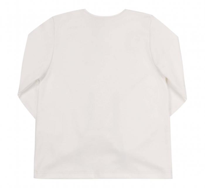 Bluza cu maneca lunga, bumbac 100%, fete, Alb/Lama [1]