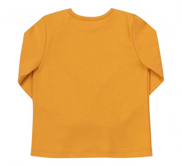 Bluza cu maneca lunga, bumbac 100%, fete, Galben mustar [1]