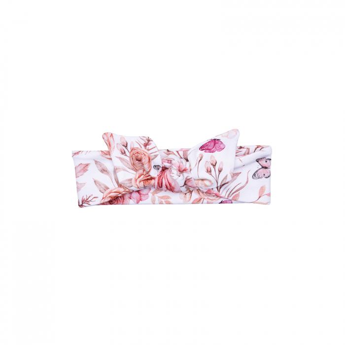 Bentita cap_Alb/Trandafiri roz 0