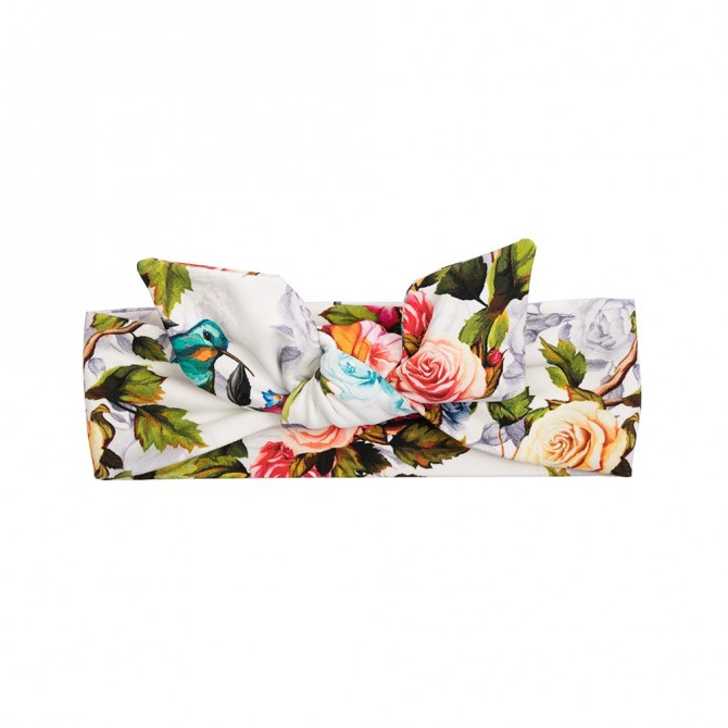 Bentita cap_Alb/Trandafiri colorati 0