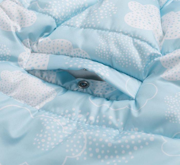 Husa tip salopeta din fas, iarna, bebe, baieti, Albastru/Alb [5]