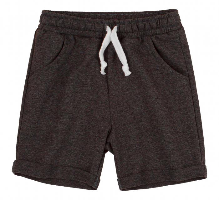 Compleu, tricou cu maneca scurta si pantalon scurt cu buzunare, baieti, Albastru/Gri [3]