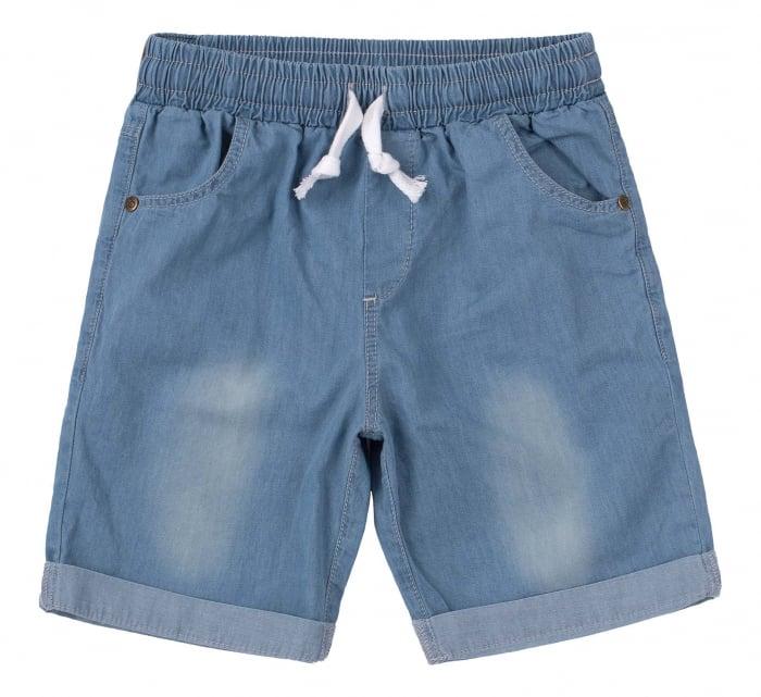 Compleu; tricou cu maneca scurta si pantalon scurt cu buzunare, baieti, Verde/Albastru [3]