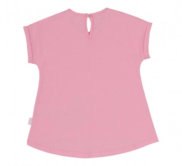 Compleu, tricou cu maneca scurta si pantalon leggings 3/4, bumbac 100%, fete, Roz/Verde [2]