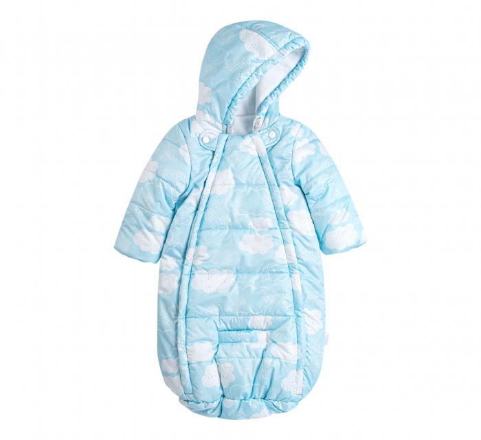 Husa tip salopeta din fas, iarna, bebe, baieti, Albastru/Alb [0]