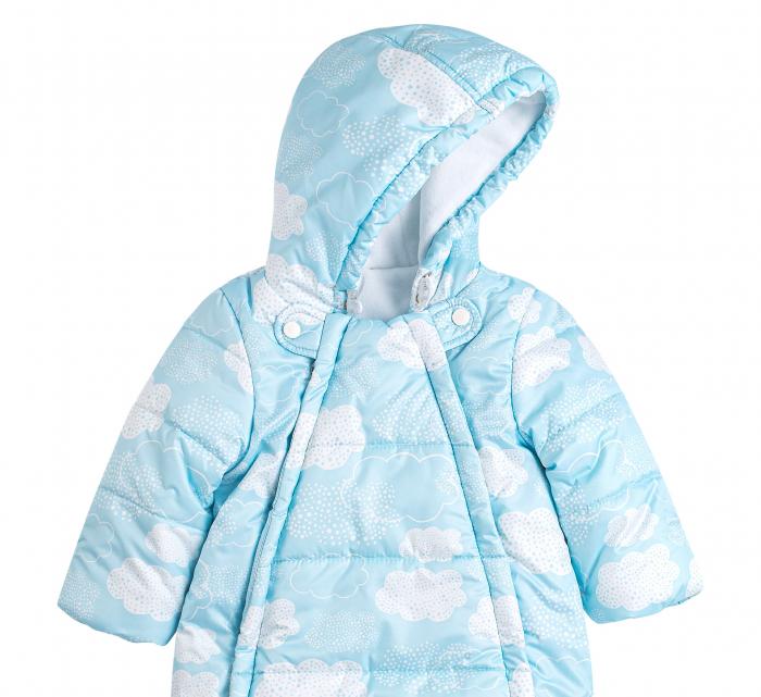 Husa tip salopeta din fas, iarna, bebe, baieti, Albastru/Alb [1]