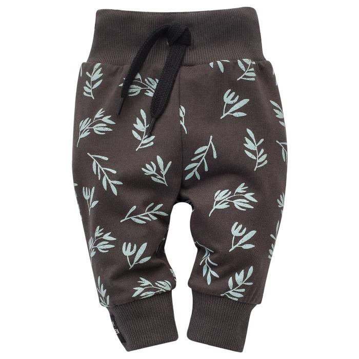 Pantalon lung 'leggings', unisex, Gri/Frunze, Stay Green [0]