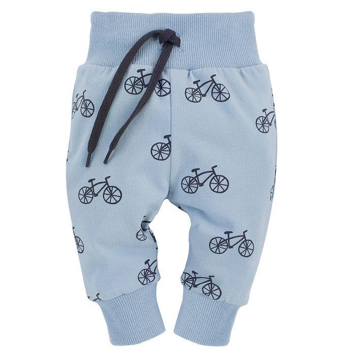 Pantalon lung tip leggings, baieti, Albastru/Biciclete, Summertime [0]