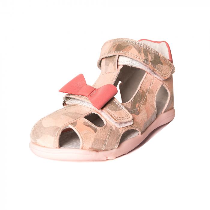 Sandale piele, roz/argintiu, fete, MARIO [0]