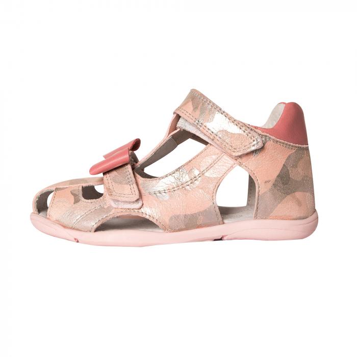 Sandale piele, roz/argintiu, fete, MARIO [1]
