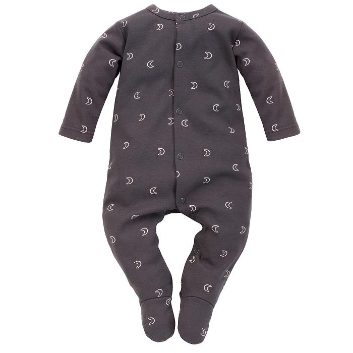 Pijama tip salopeta intreaga cu talpa, bumbac 100%, Gri inchis, Dreamer [0]