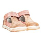Pantofi piele, decupati, cu talonet, Roz, velour, Pablo [3]