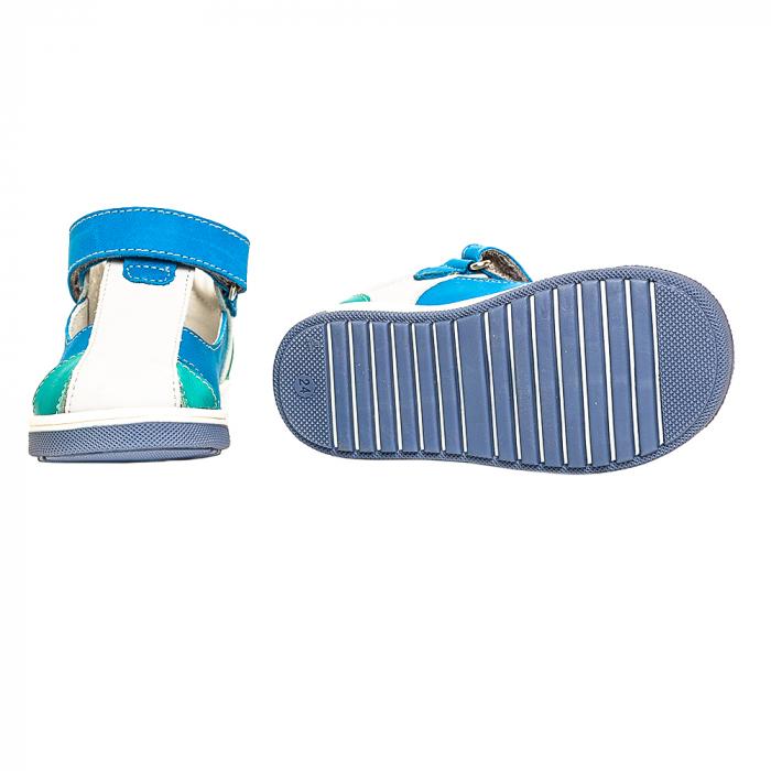 Sandale piele, albastru/gri, baieti, PABLO 2