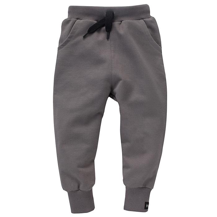Pantalon lung cu buzunare, bumbac 100%, baieti, Grafit/Teo [0]