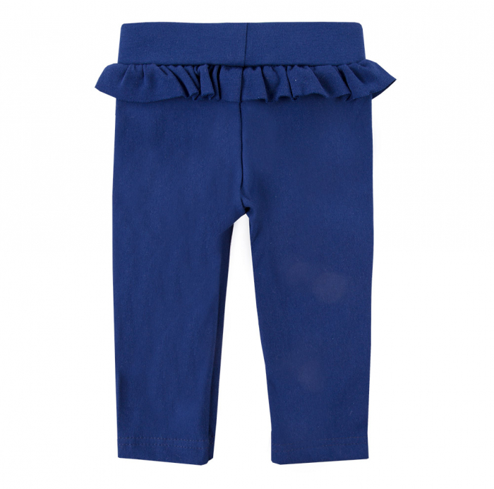 Pantalon lung 'leggings', bumbac 100%, fete, Albastru, Coral 1