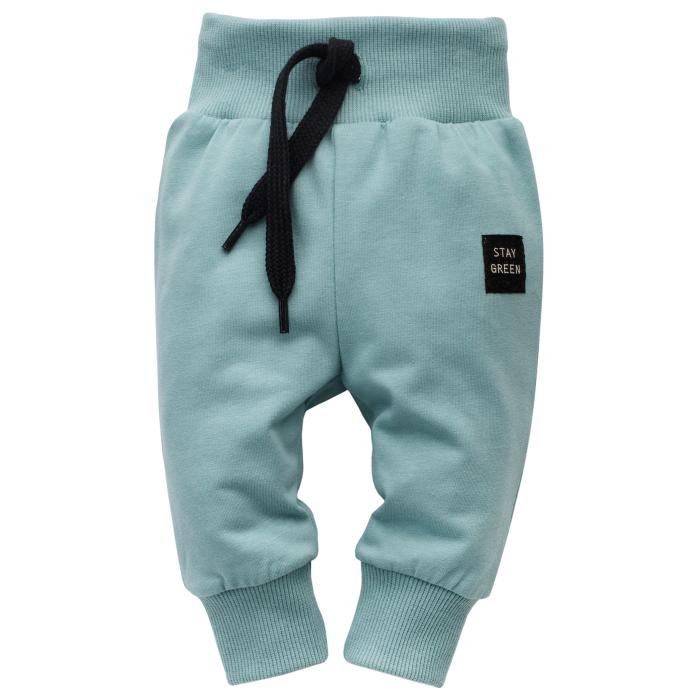 Pantalon lung tip leggings, bumbac 100%, baieti, Stay Green 0