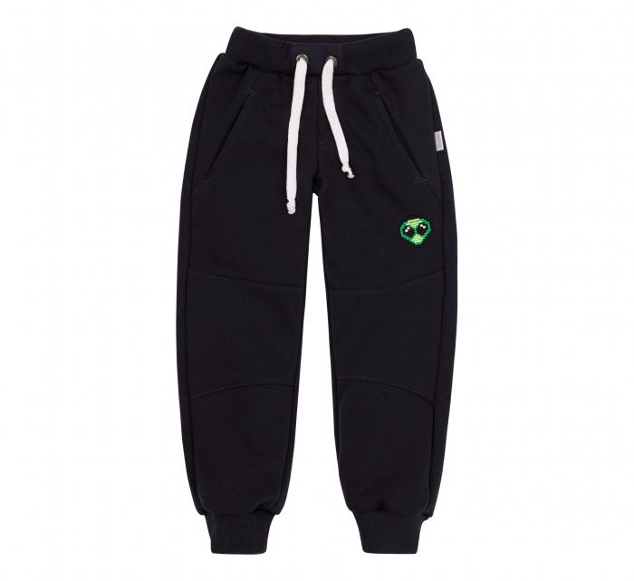 Pantalon lung trening cu buzunare, baieti, Negru, Alien 0