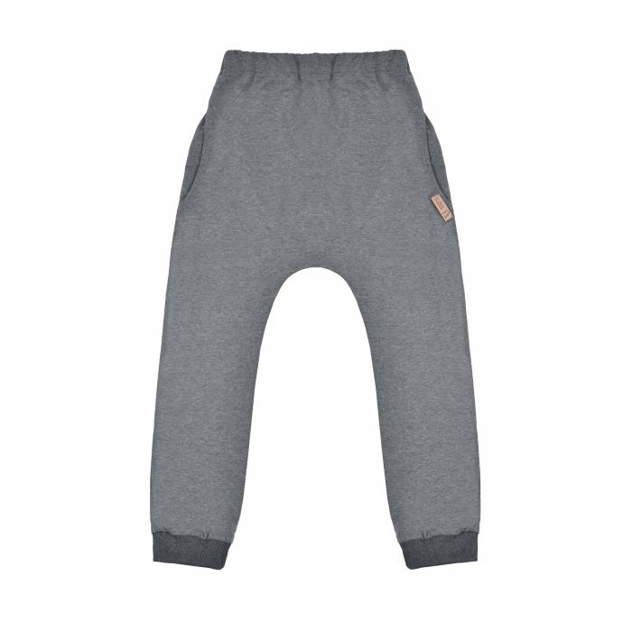 Pantalon lung trening de vara_subtire_croi modern_gri inchis [0]