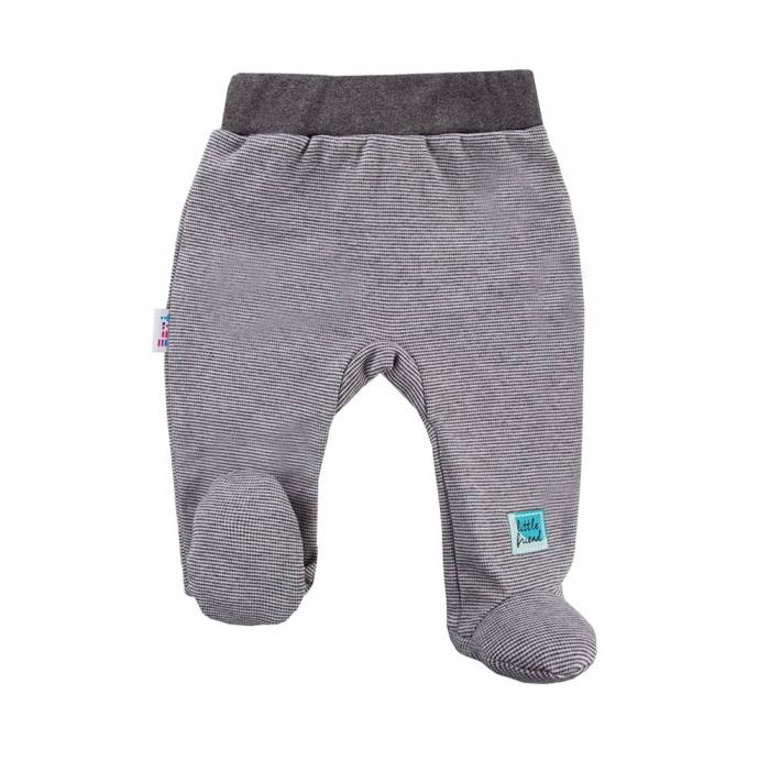 Pantalon tip pijama cu talpa_Gri inchis_Snow 0