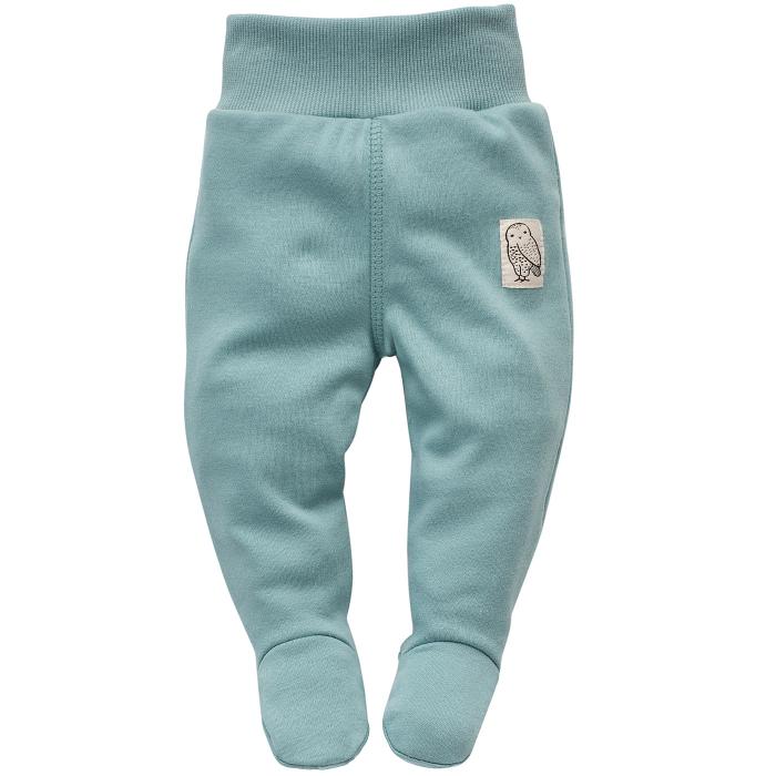 Pantalon tip pijama cu talpa, fete, bumbac 100%, Verde Aqua, Stay Green [0]