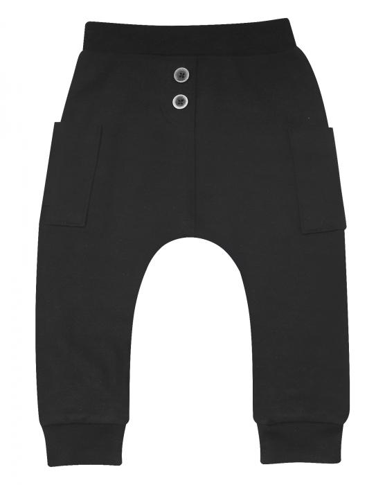 Pantalon trening cu buzunare_Negru 0